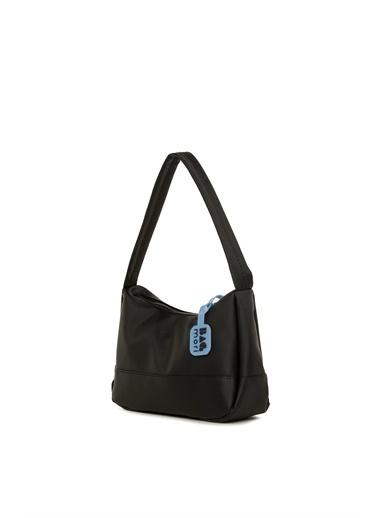 Bagmori  Kadın Parçalı Dikişli Baget Çanta M000006060 Siyah